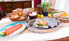 Home & Family - Recipes - Grill Smoked True North Salmon with Boulanger Potatoes and Horseradish   Hallmark Channel