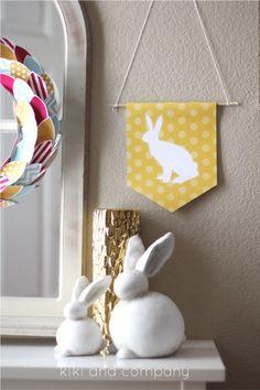 silhouett, bunni printabl, easter banner, printabl easter, bunni banner, printabl bunni