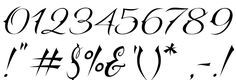 tattoo fonts numbers