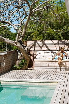swimming pool with decking