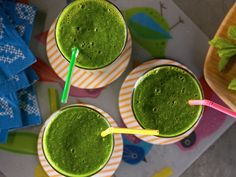 Mean Green Smoothie from Kelsey's Essentials. I plan to switch out the green tea for coconut water.