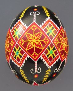 Pysanka, Real Ukrainian Easter Egg, Hen Chicken Shell, NK4 #Eggs