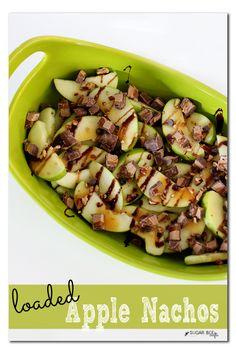 Loaded Apple Nachos Snack Recipe - Sugar Bee Crafts