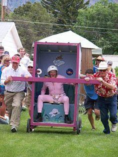 Outhouse Racing! Hilarious!