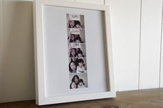 Framing the photobooth pictures...