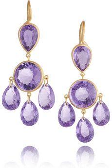 Marie-Helene de Taillac amethyst earrings