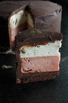 Neopolitan Ice Cream Cake by heatherchristo #Cake #Ice_Cream
