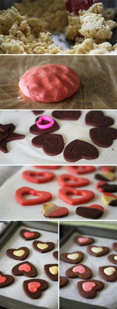 food on paper: Valentine's Day Heart Cookies,  2014 Valentine's Day Cookie  #Valentines #ideas #dessert #recipes www.loveitsomuch.com