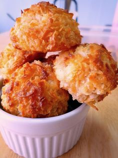 Easy Coconut Macaroons- these are super easy to make with only 4 ingredients!