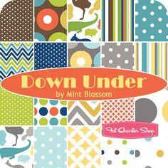 Down Under Yardage Mint Blossom for Northcott Fabrics - Fat Quarter Shop