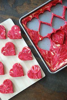 red velvet cheesecake hearts