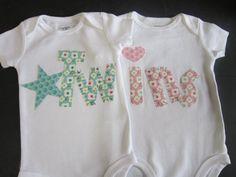 Boy girl twin onesies Boy girl twins twin by PaisleyPrintsSpokane