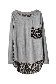 Leopard Print Detail Top