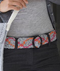 Tunisian Crochet Belt Crochet Pattern | Red Heart
