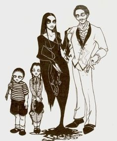 Gorgeous fanart of the Addams Family