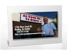 Great idea - using Photo software to create an ad for your biz.