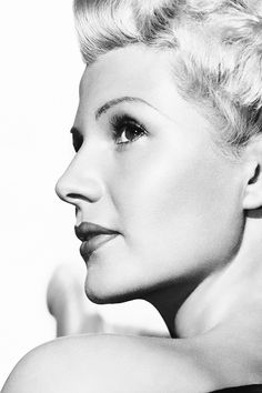 """Rita Hayworth in a promotional photograph for """"The Lady from Shanghai"""", 1947."""