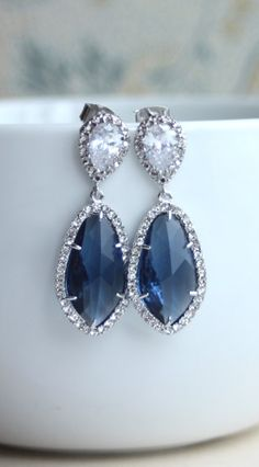 navy blue accessories, bride maids, summer jewelry, diamond, costume jewelry, jewelry trends, something blue, the navy, earring