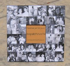 """Personalized Mother of the Bride Collage Picture Frame, Wedding, Anniversary, Custom Father's Day Gift 12"""" x 12"""". $64.00, via Etsy."""