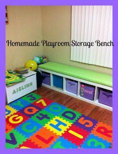 Playroom Storage Bench - The Peanuts Gang #MAYhemforMoms