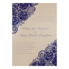 Diamond Lace Roses Glitter - Coral Reef - Invitation | Invitations By David's Bridal