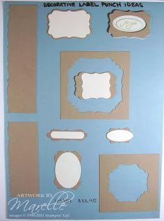 Decorative Label Punch Ideas Sheet