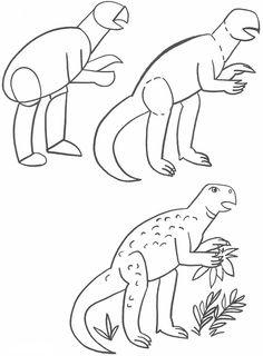 How to Draw Psittacosaurus Dinosaurs
