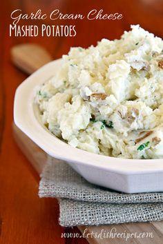 Garlic Cream Cheese Mashed Potatoes