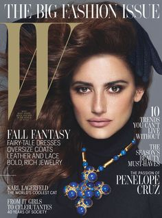 Penelope Cruz on the Cover of W September 2012