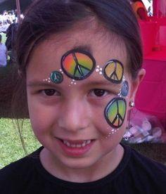 Peace face paint