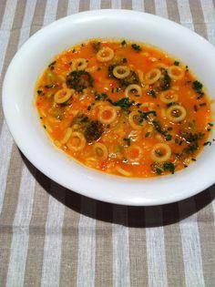 #sopa campañola de anillos.  #Recetas italianas. #cocina. #italian #food.