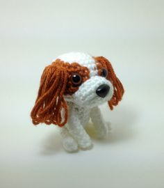 #pet #kids #toy #cavalier king charles #spaniel #crochet #dog #puppy #stuffed #animal