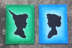 Peter Pan Handmade Silhouette Canvas Painting. $25.95, via Etsy.