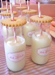 Milk and cookies for a sleepover party :-)