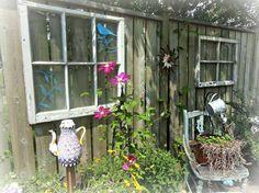 Window dressing in a Flea Market Garden | Flea Market Gardening