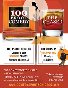 Comedy Show $10 Monday at 8pm  or comedy sports improv saturday 6p, 8p or 10p $22 and right next to house party