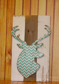 Chevron Deer Sign Vintage Marquee Lighted Wood Sign