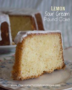 Mmm, I've been craving a lemon dessert lately: Lemon Sour Cream Pound Cake