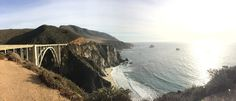 The beautiful Bixby Bridge in Big Sur, California. bixbi bridg