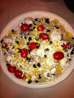 Southwestern BBQ Ranch Chicken Quinoa Salad - Recipe