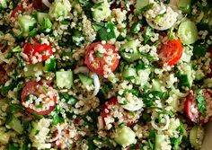 Quinoa tabbouleh. Vegetarian but high in protein.
