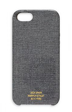 Cool iPhone cases for dads: Jack Spade cloth case - awesome.