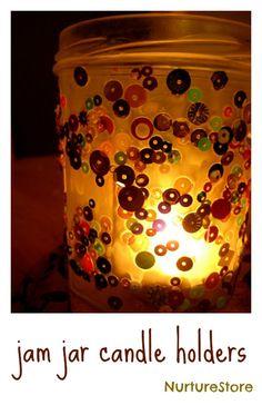 How to make beautiful jam jar candle holders
