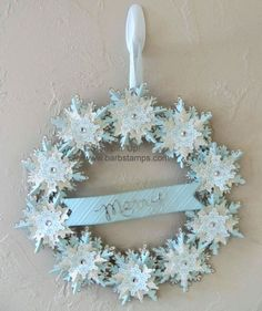 Festiveflurrywreath made with the Festive Flurry Ornament Kit