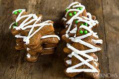 Gluten free gingerbread mummy cookies