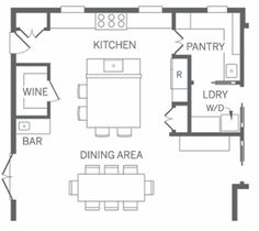 Kitchen designs on pinterest masculine kitchen butler for Kitchen floor plans with island and walk in pantry