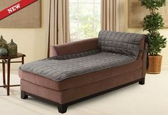 Now you can protect your Sectional Sofa seating components. Introducing the Deluxe Armless Furniture Cover in a new chaise lounge fit.