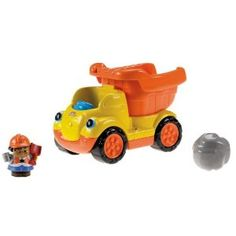 Fisher-Price Little People Rumblin Rocks Dump Truck. Details at http://www.toys-zone.com/fisher-price-little-people-rumblin-rocks-dump-truck/