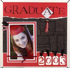 school, graduat scrapbook, scrapbook graduation pages, scrapbooking graduation, scrapbook idea