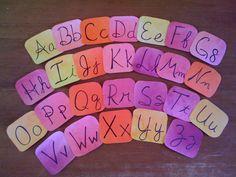 Watercolor Vimala Alphabet Cards